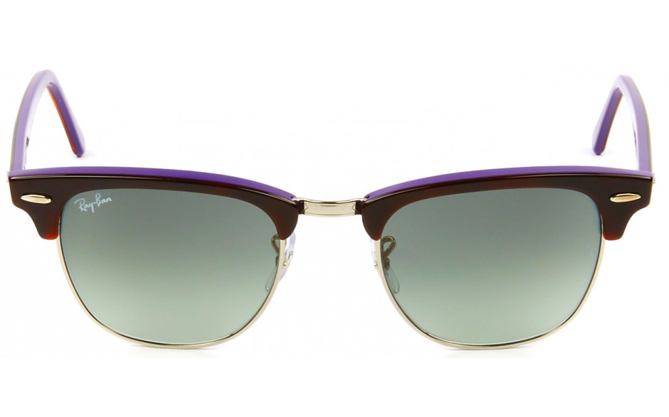 ray ban havana on violet new clubmaster sunglasses  ray ban clubmaster rb 3016 1128 71 49 21 3n 1
